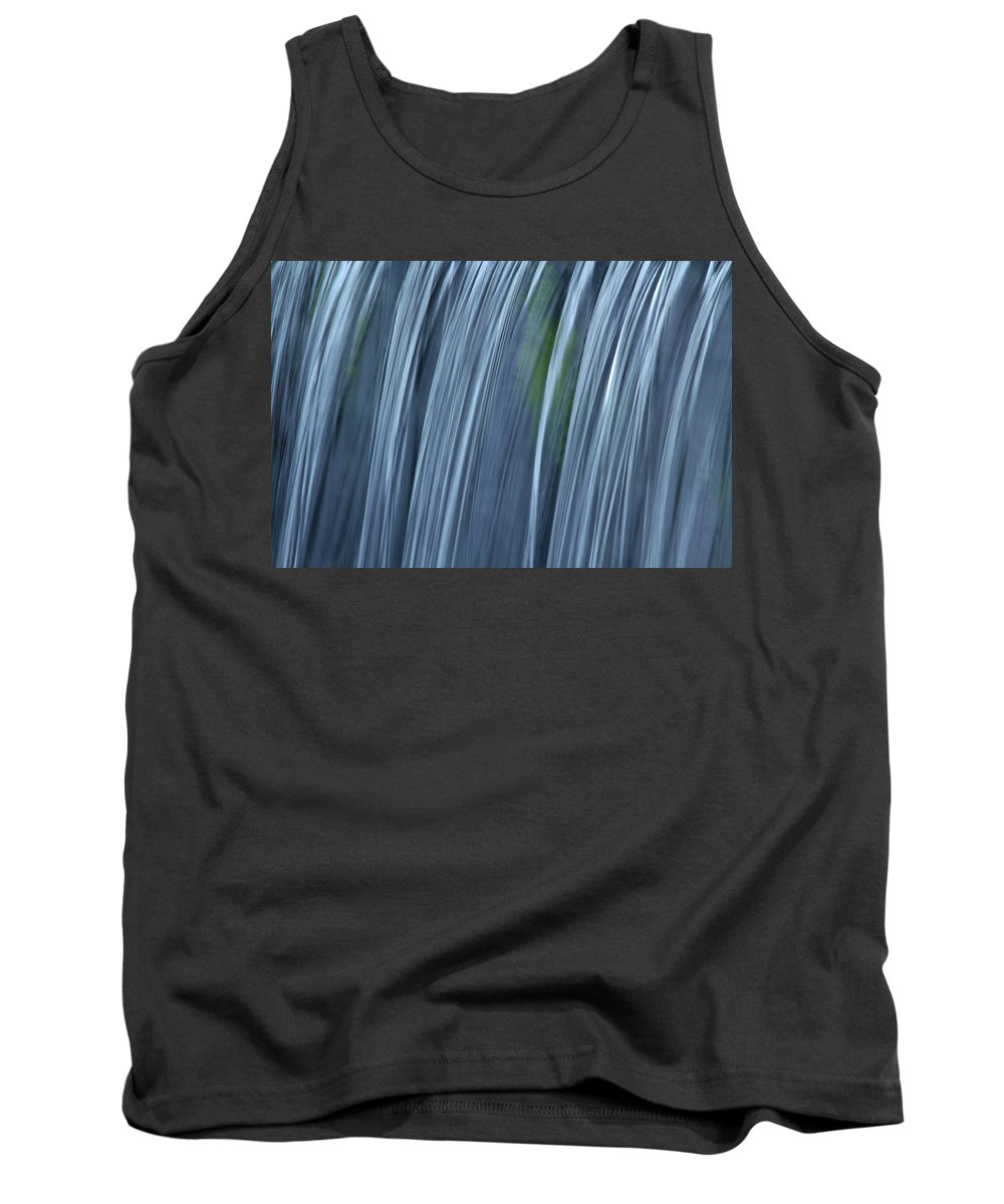 Falling Water Up Close Tank Top featuring the photograph Falling Water Up Close by Richard Cheski
