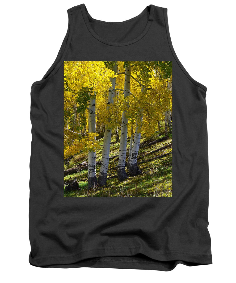 Colorado Photographs Tank Top featuring the photograph Family Of Four by Gary Benson