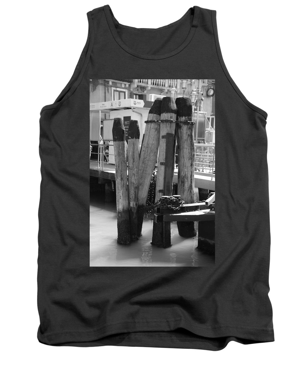 Venice Tank Top featuring the photograph Family Of Pilings by Eric Tressler