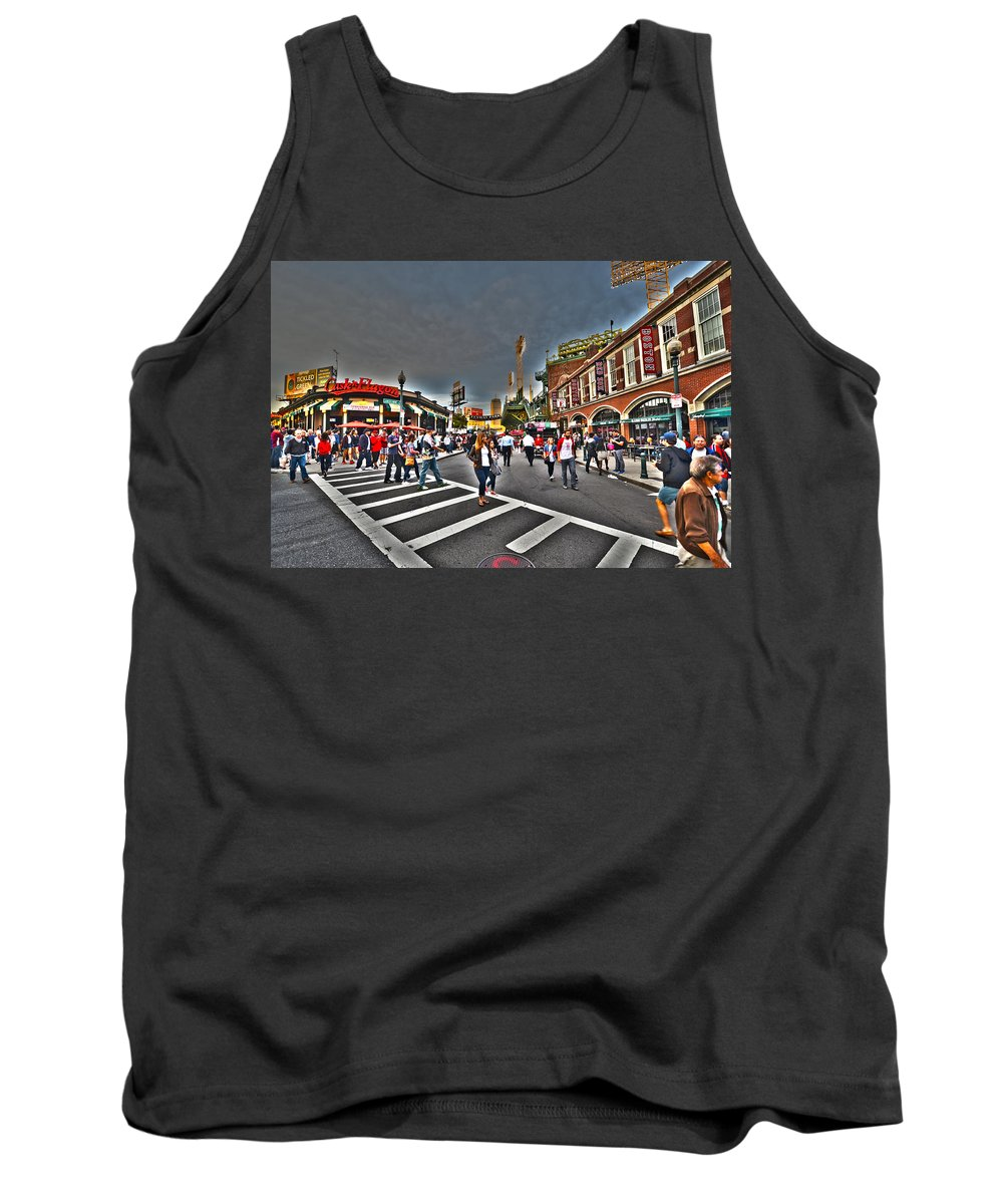Fenway Park Tank Top featuring the photograph Fenway Park And Cask And Flagon by Toby McGuire