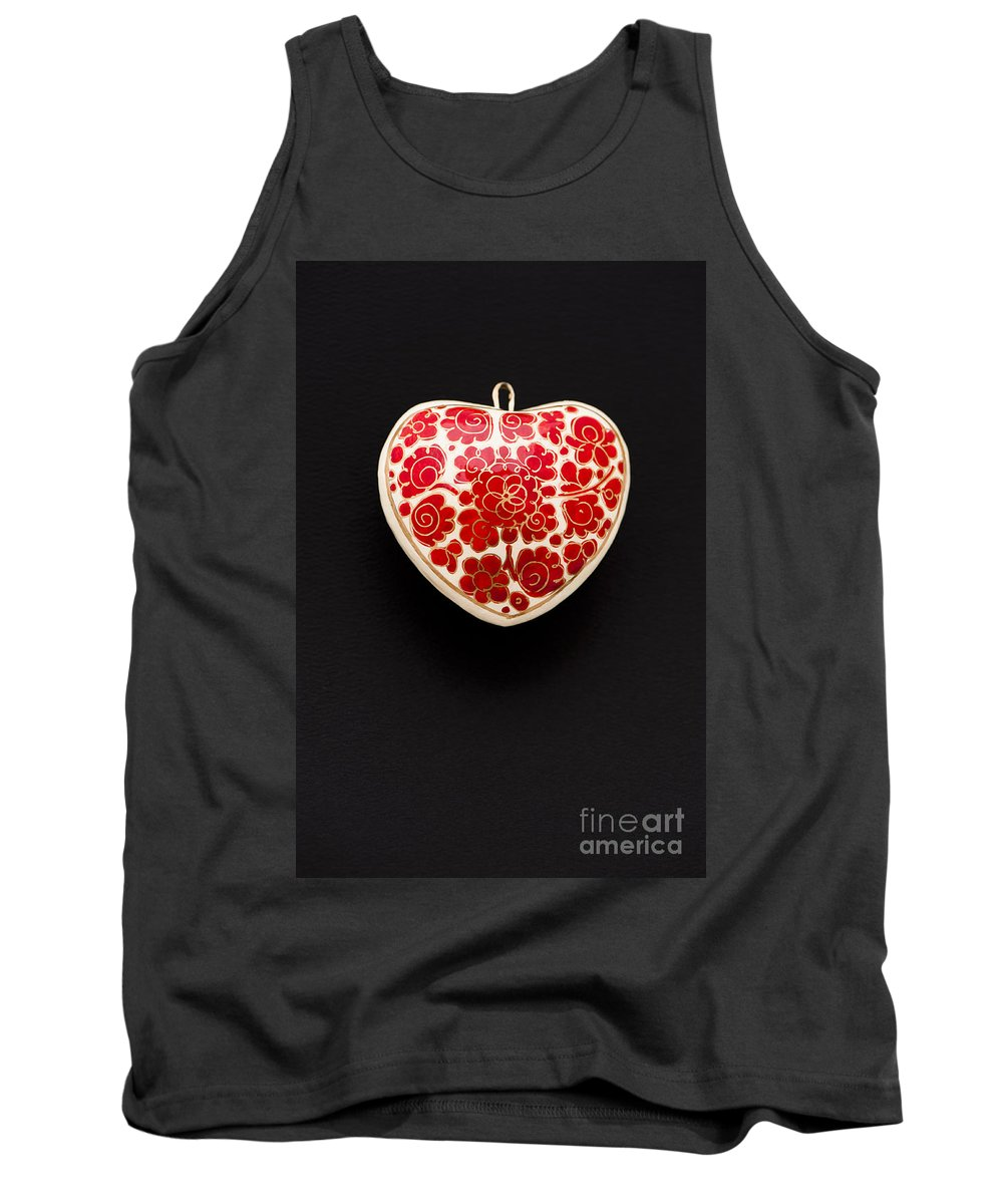 Background Tank Top featuring the photograph Festive Heart by Anne Gilbert