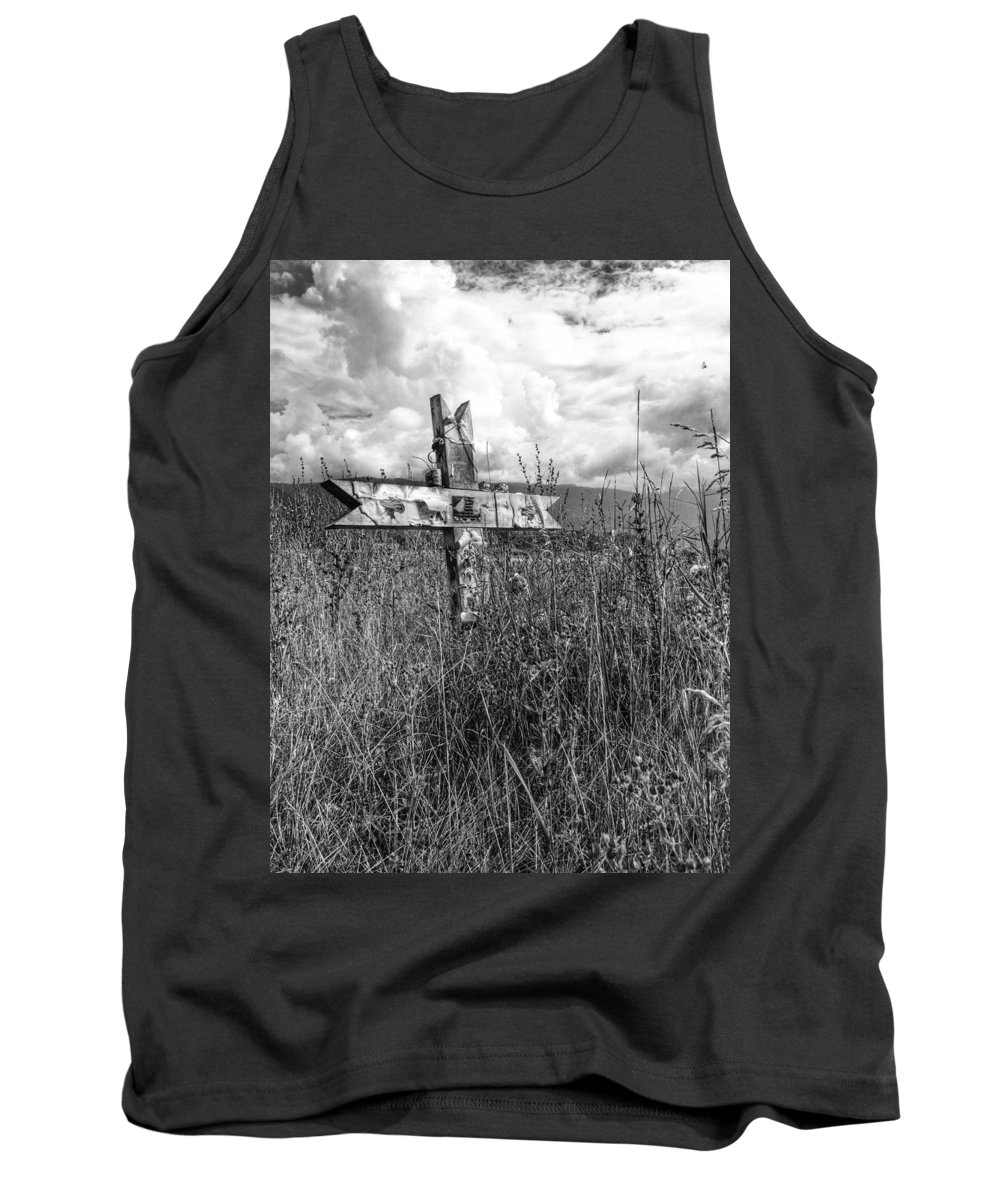 Graveyard Tank Top featuring the photograph Field Of Faith by The Artist Project