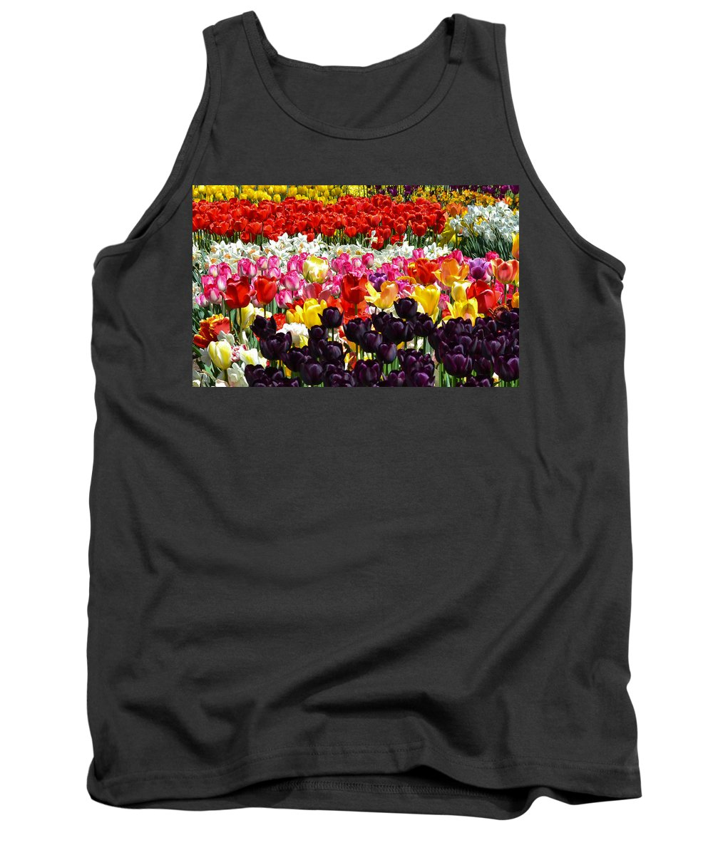 Tulips Tank Top featuring the photograph Field Of Tulips Ll by Wanda J King