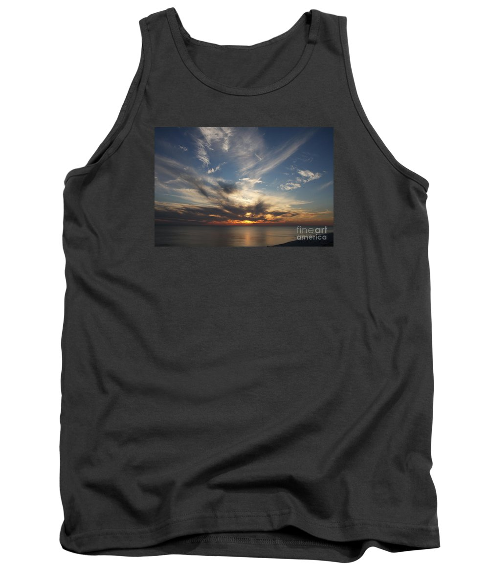 Sunset Tank Top featuring the photograph Fiery Sunset Skys by Christiane Schulze Art And Photography