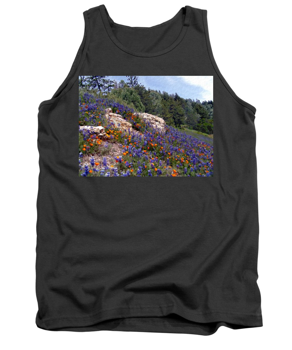 Flowers Tank Top featuring the photograph Figueroa Mountain Splendor by Kurt Van Wagner