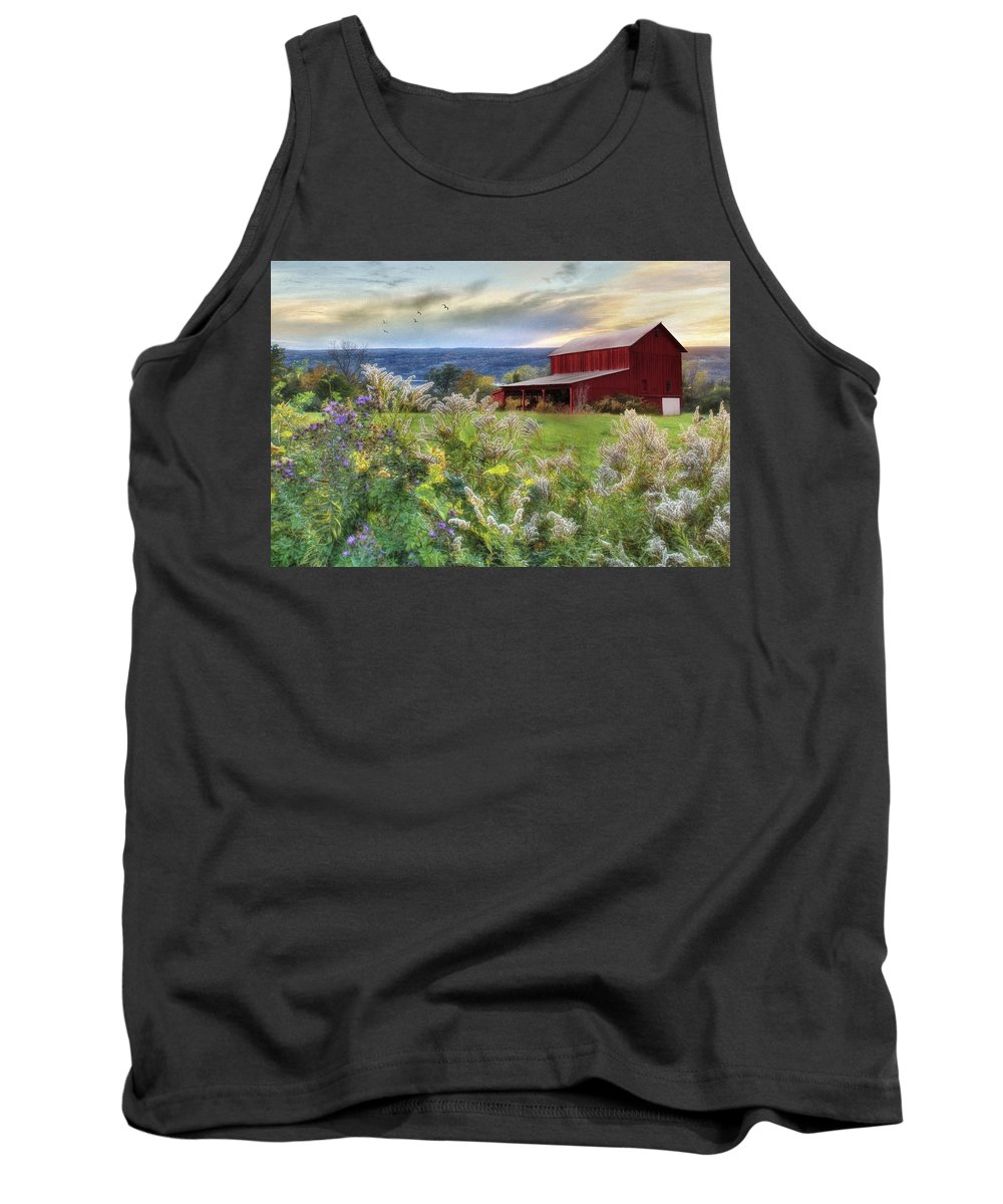 Barn Tank Top featuring the photograph Finger Lakes Farm by Lori Deiter