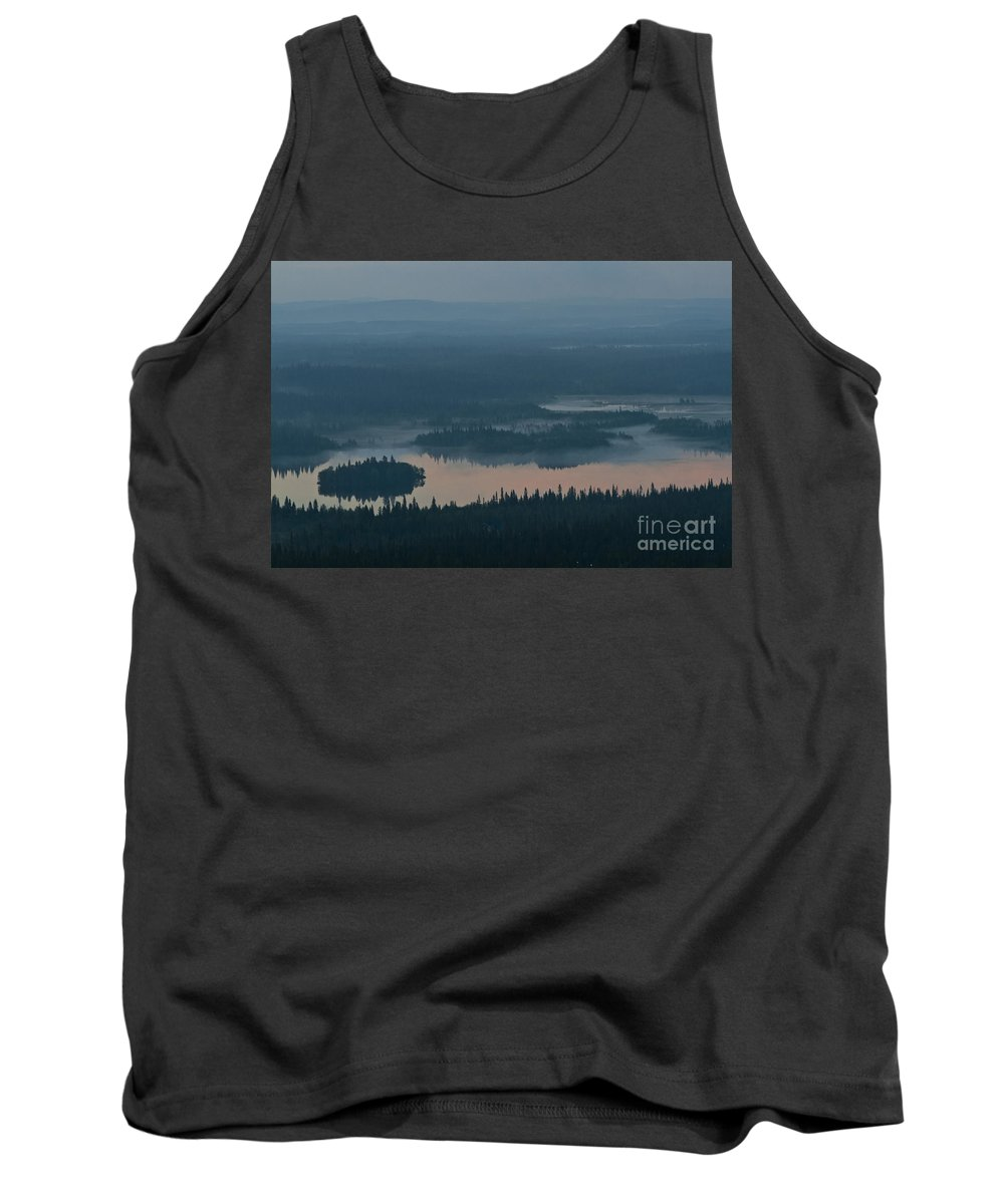 Europe Tank Top featuring the photograph Finish Lakeland In The Mist by Heiko Koehrer-Wagner