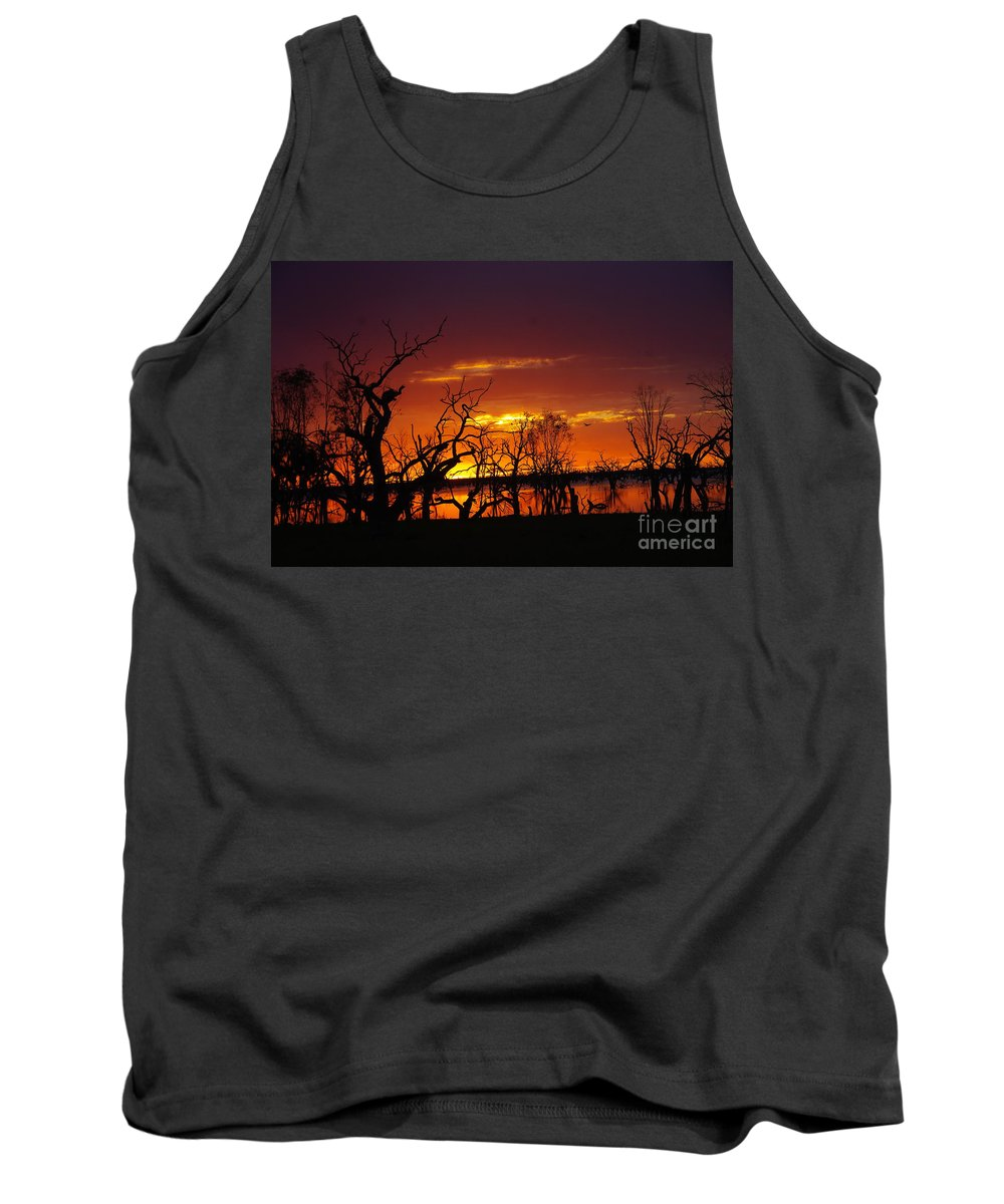 Into The Night Tank Top featuring the photograph Fire In The Sky by Blair Stuart