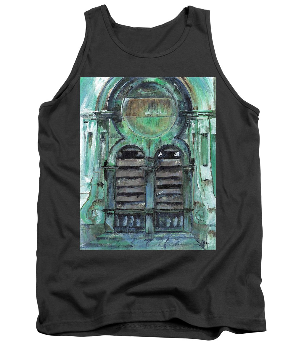 Building Tank Top featuring the mixed media First Baptist Church Burlington Vt by Judith Rice