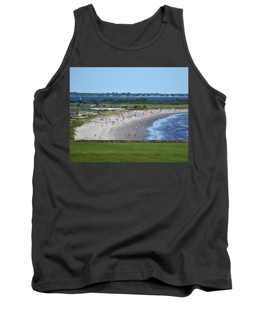 Newport Tank Top featuring the photograph First Beach Newport Ri by Toby McGuire