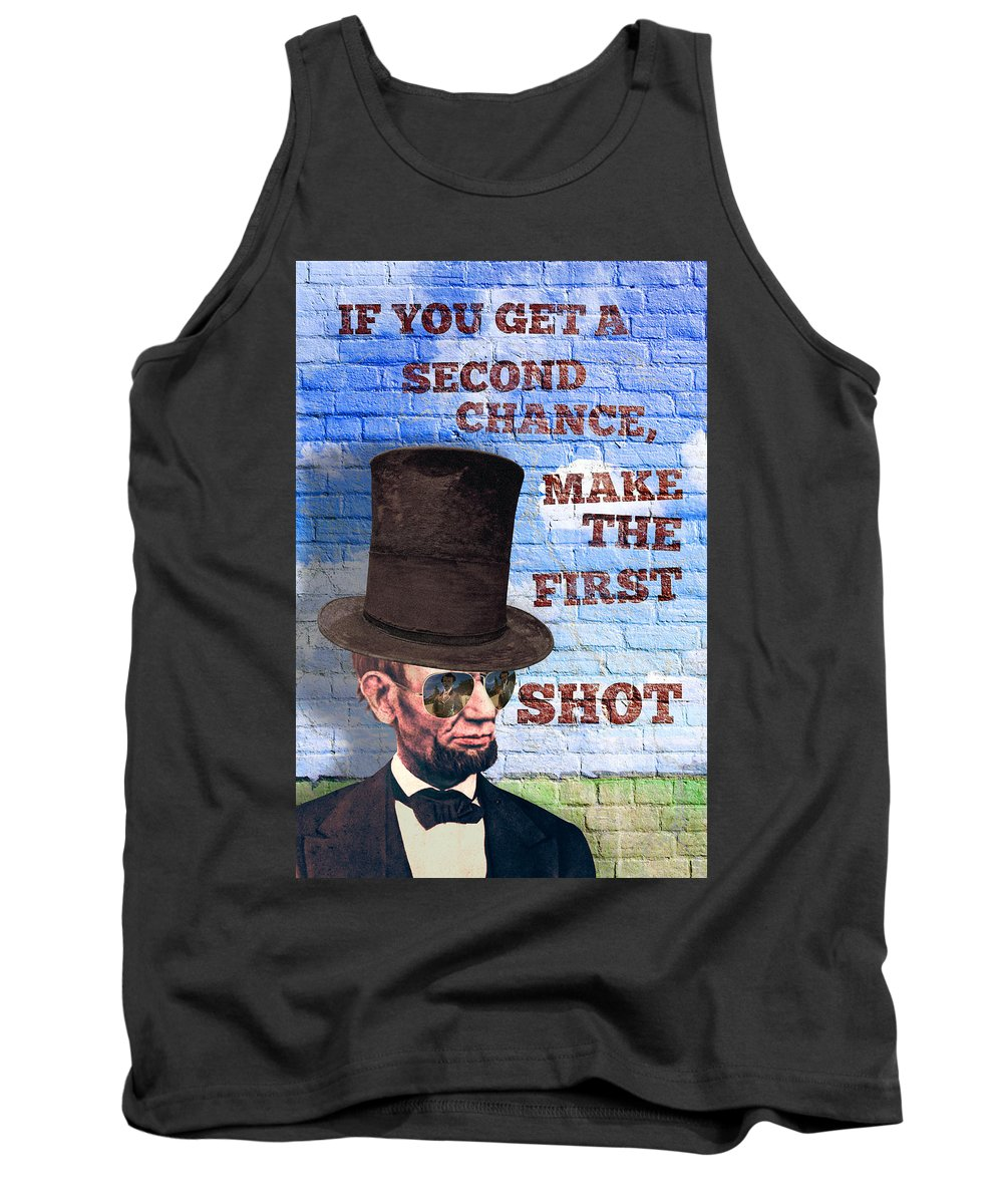 Abraham Lincoln Tank Top featuring the digital art First Shot by Sean Corcoran