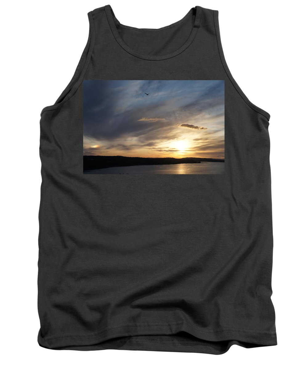 Firth Of Forth Tank Top featuring the photograph Firth Of Forth In The Sunset by Elena Perelman