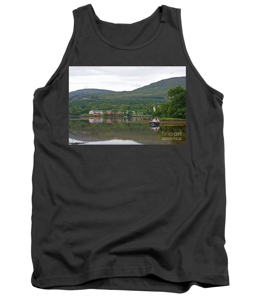 Kenmare Tank Top featuring the photograph Fishing Boat On Kenmare River West Kerry by Simon Kennedy