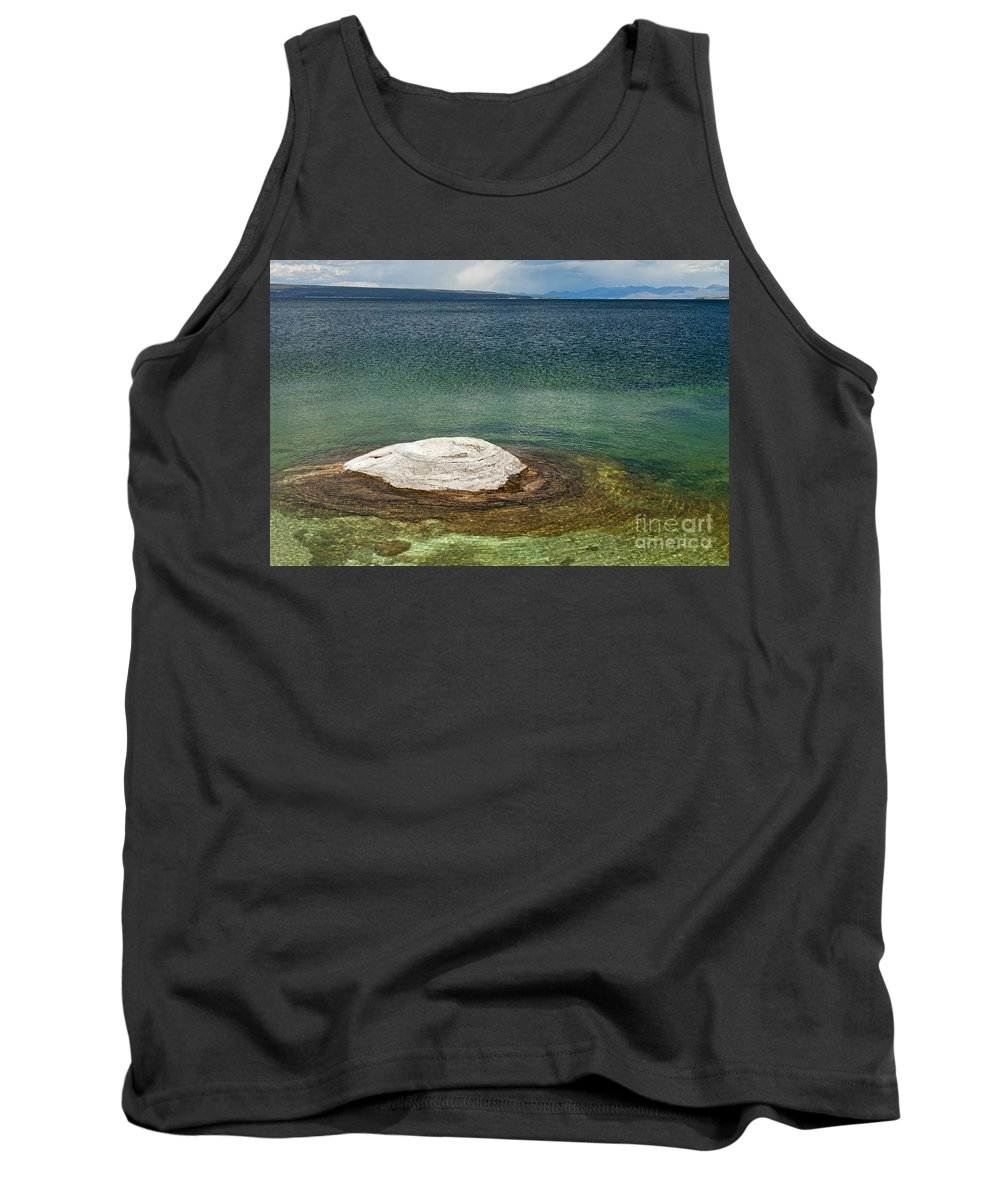 Afternoon Tank Top featuring the photograph Fishing Cone In West Thumb Geyser Basin by Fred Stearns