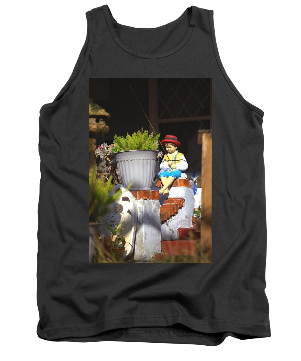 5704 Tank Top featuring the photograph Fishing Off The Front Porch by Gordon Elwell