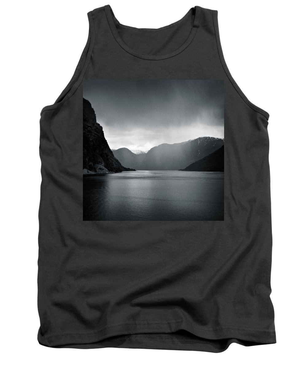 Norway Tank Top featuring the photograph Fjord Rain by Dave Bowman