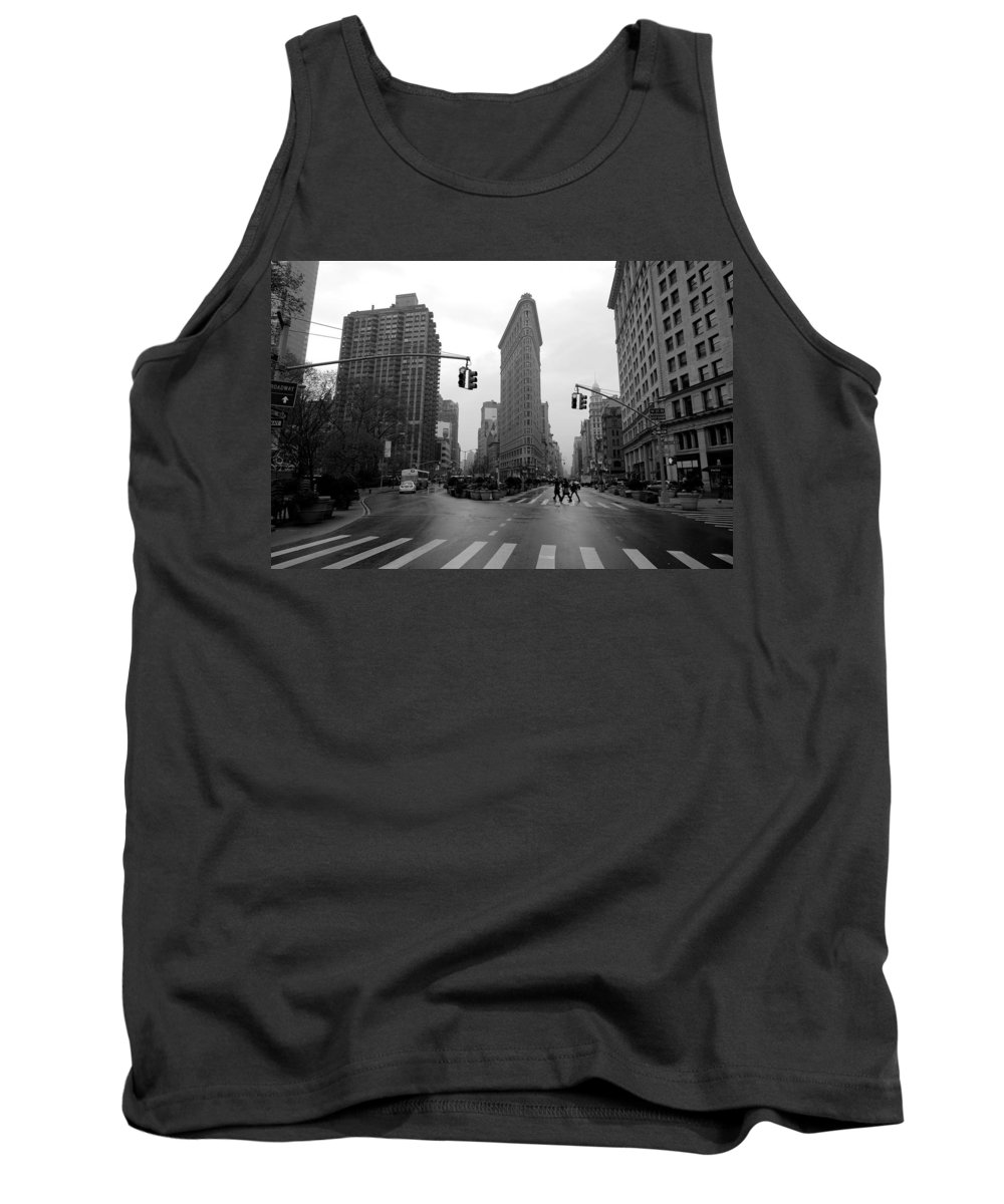 New York Tank Top featuring the photograph Flatiron Building by Dustin LeFevre