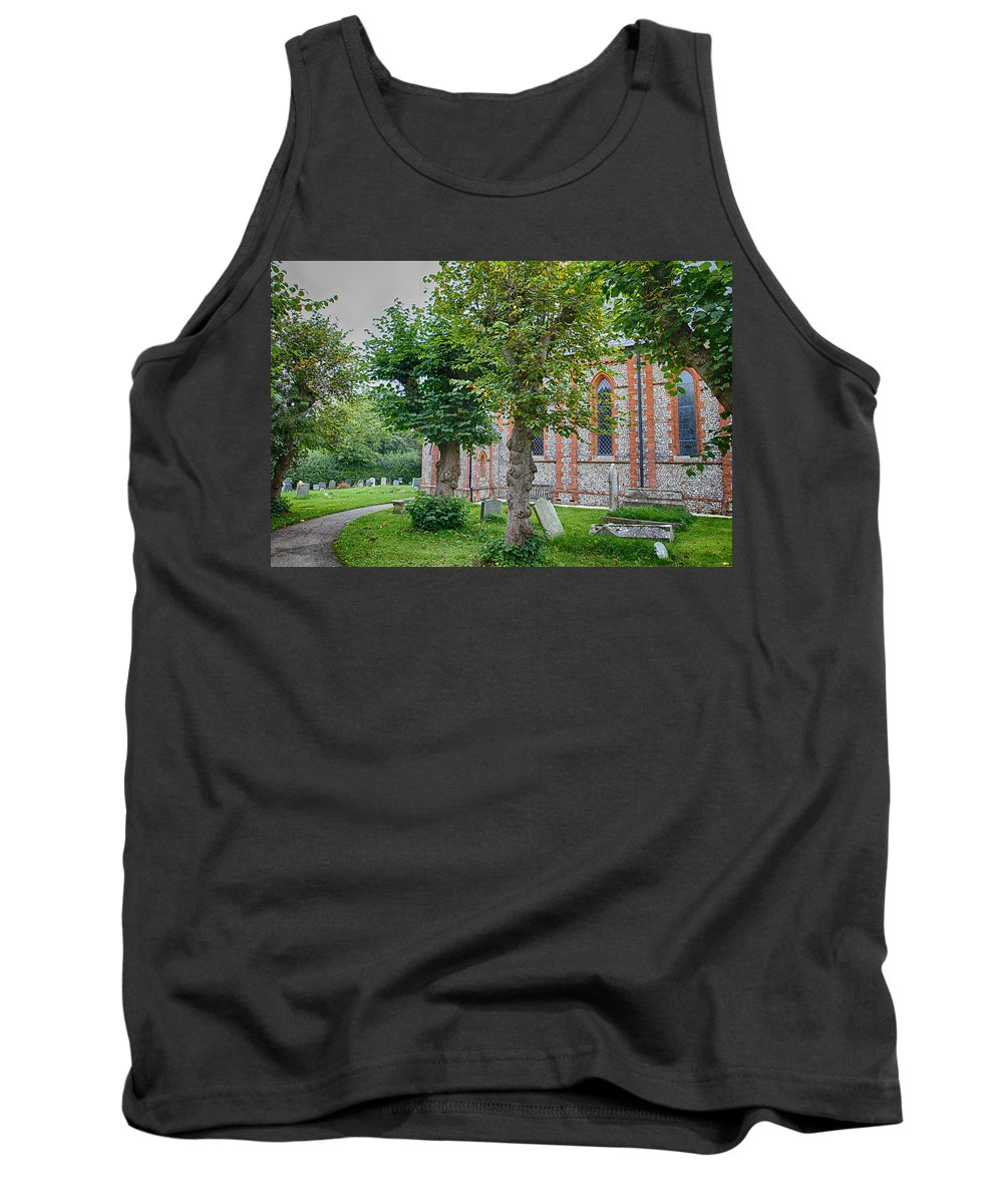 Christ Tank Top featuring the photograph Flaundon Church 1 by Leah Palmer