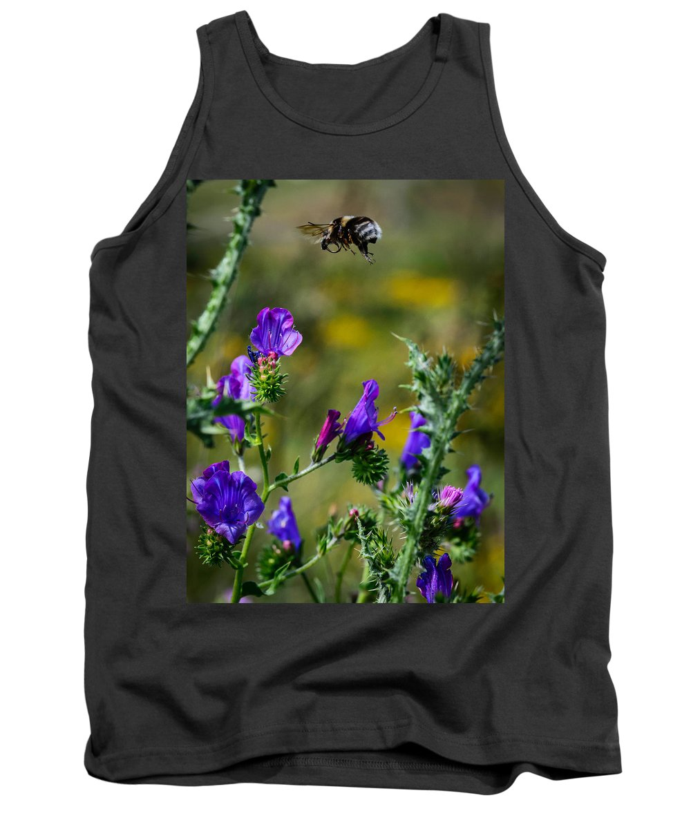 Bumblebee In Flight Tank Top featuring the photograph Flight Of The Bumblebee by Marco Oliveira