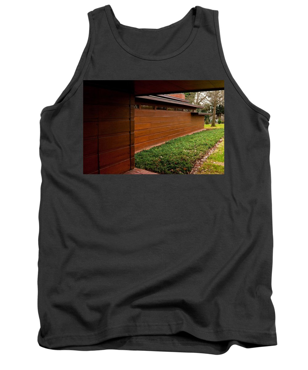 Featured Tank Top featuring the photograph Fllw Rosenbaum Usonian House - 2 by Paulette B Wright