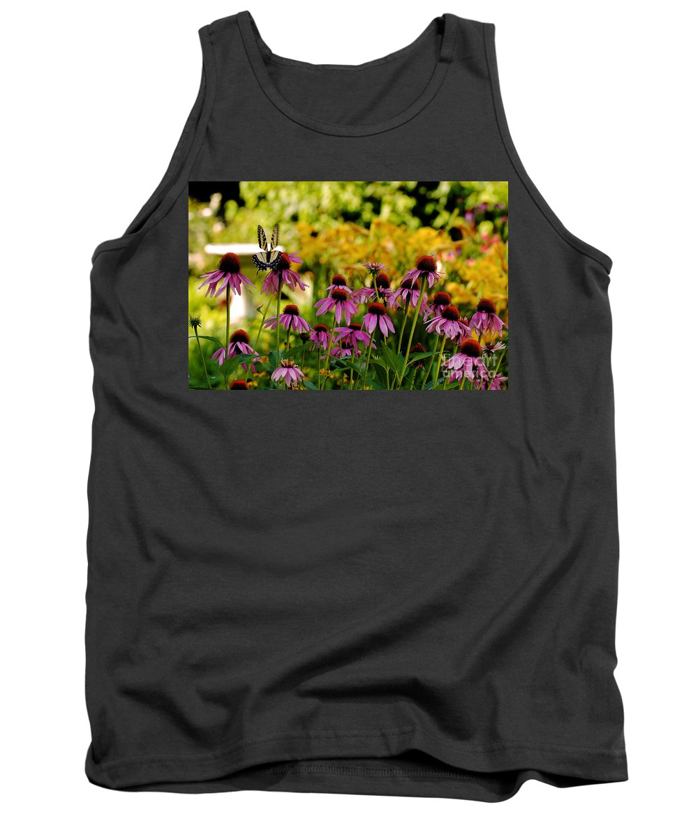 Butterfly Tank Top featuring the photograph Float Like A Butterfly by Lois Bryan
