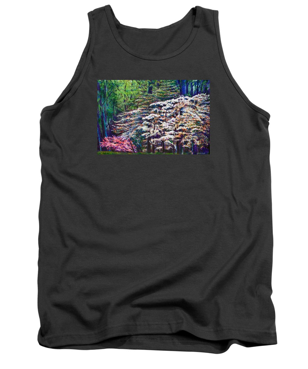 Landscape Tank Top featuring the painting Floral Cathedral by Michael Durst