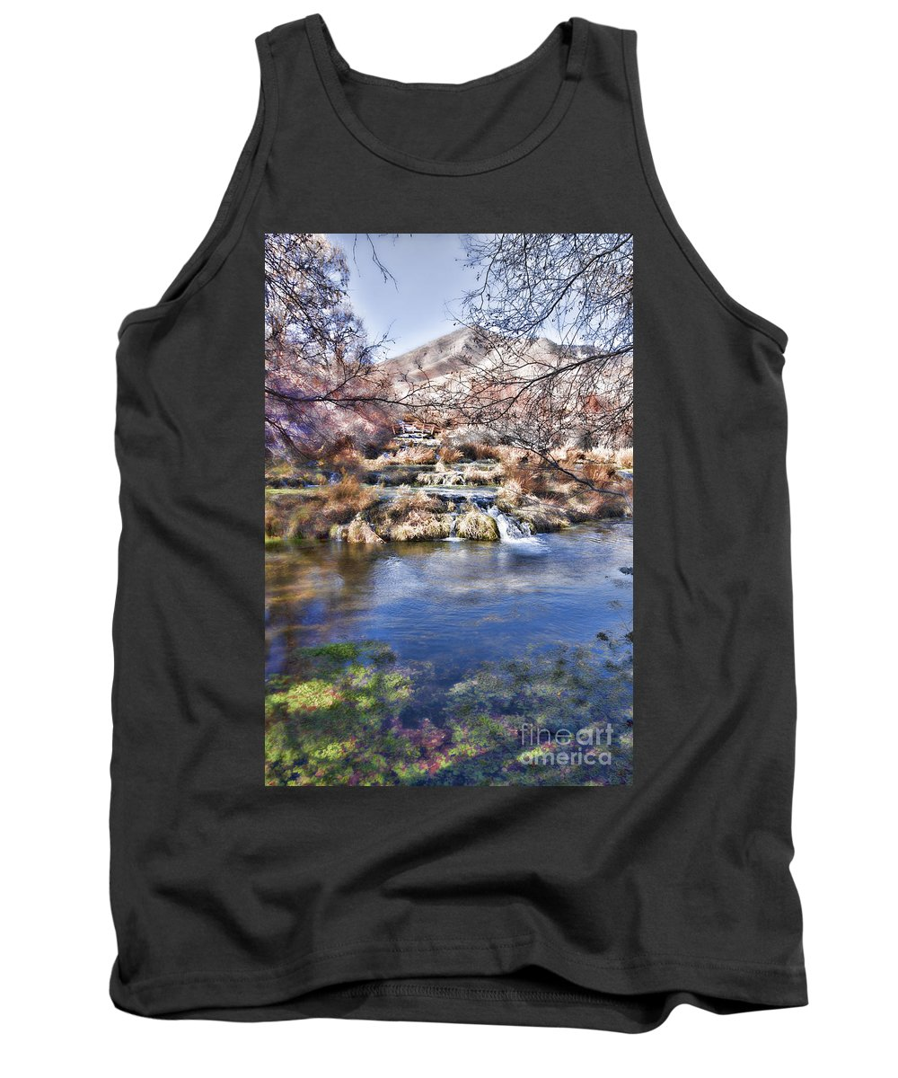 Ice Tank Top featuring the photograph Flow V8 by Douglas Barnard