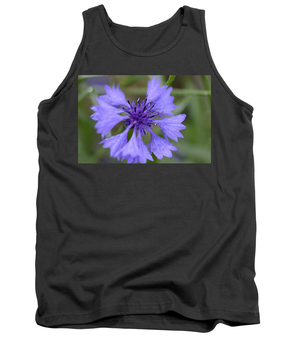 Flower Tank Top featuring the photograph Flower Blues by Miguel Winterpacht