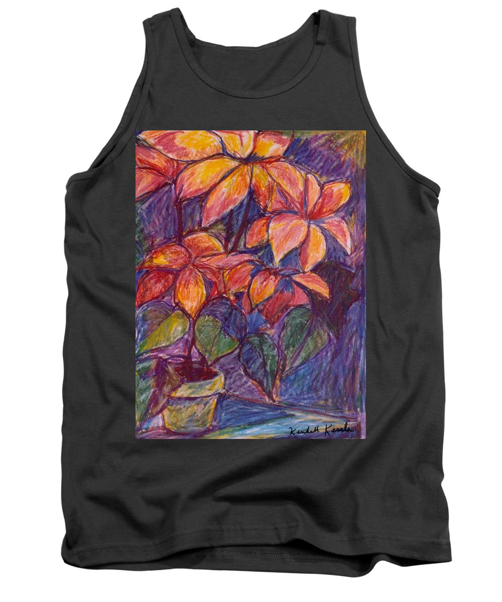 Flowers Tank Top featuring the drawing Flower Burst by Kendall Kessler