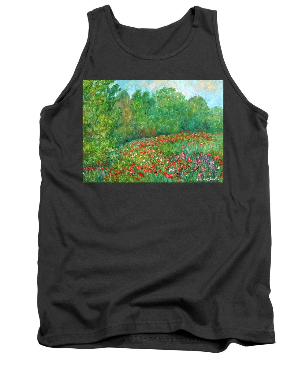 Blue Ridge Paintings Tank Top featuring the painting Flower Field by Kendall Kessler