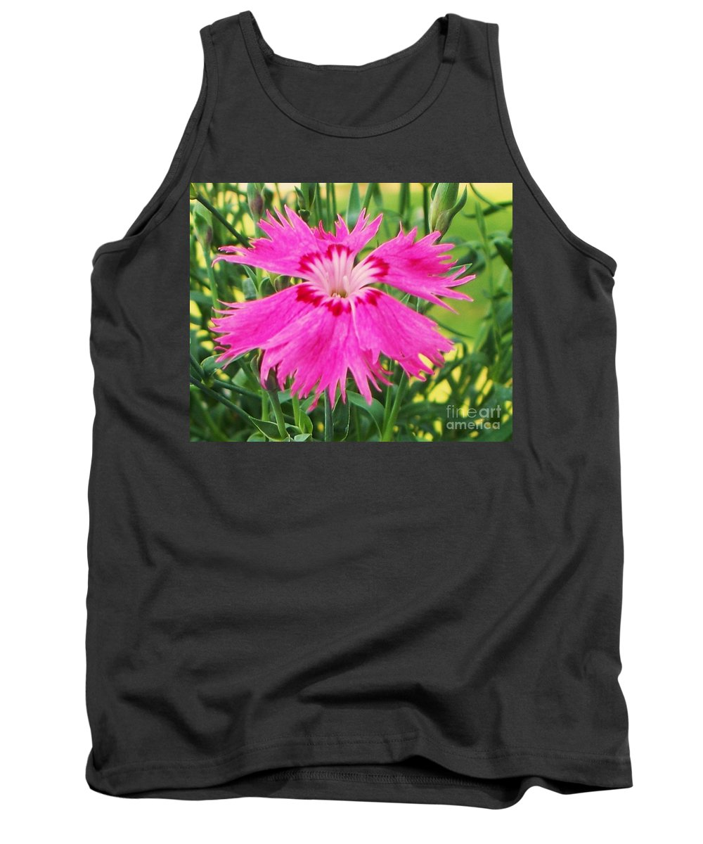 Flower Tank Top featuring the photograph Flower Pink by Eric Schiabor