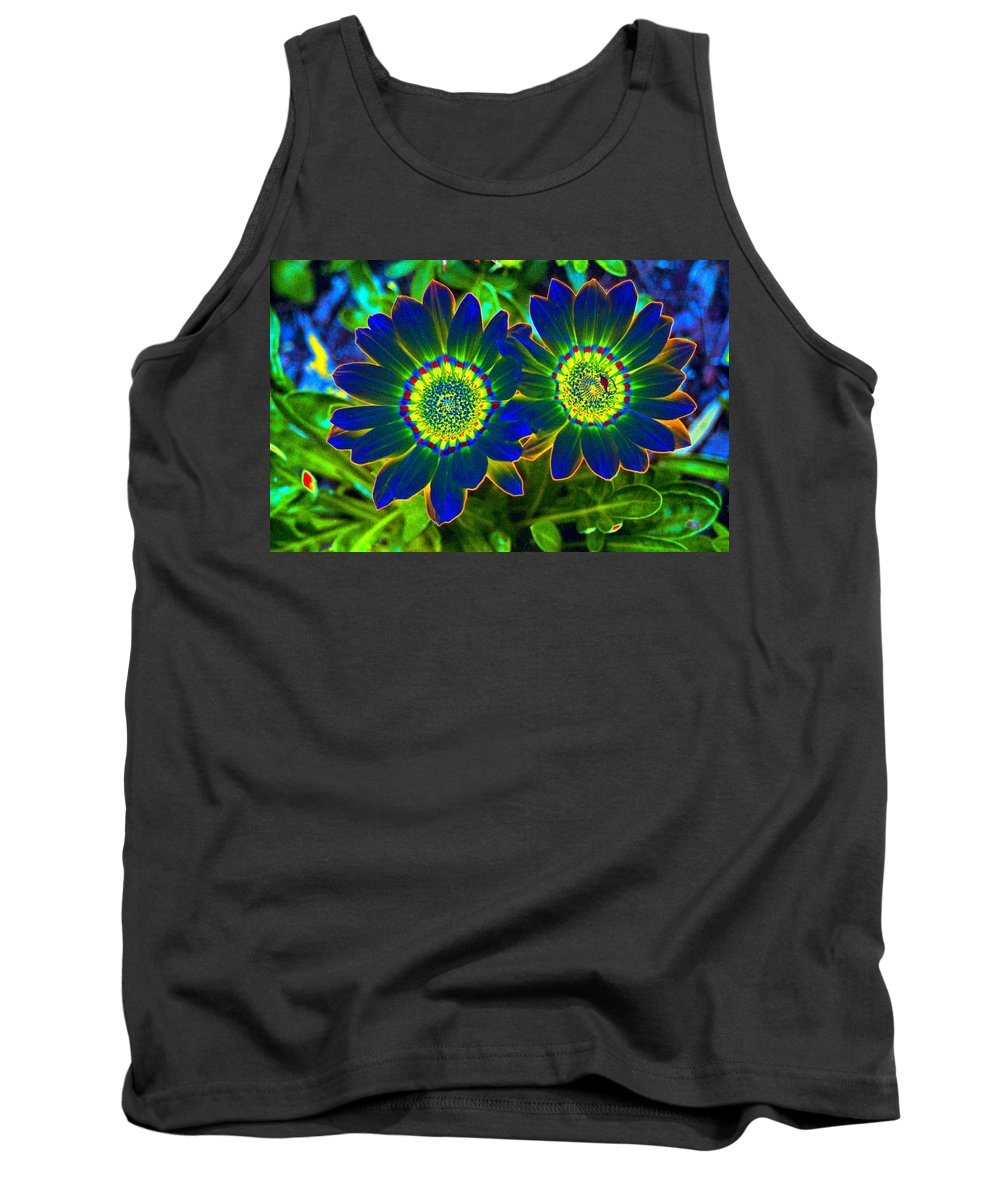 Flower Tank Top featuring the photograph Flower Power 1446 by Pamela Critchlow