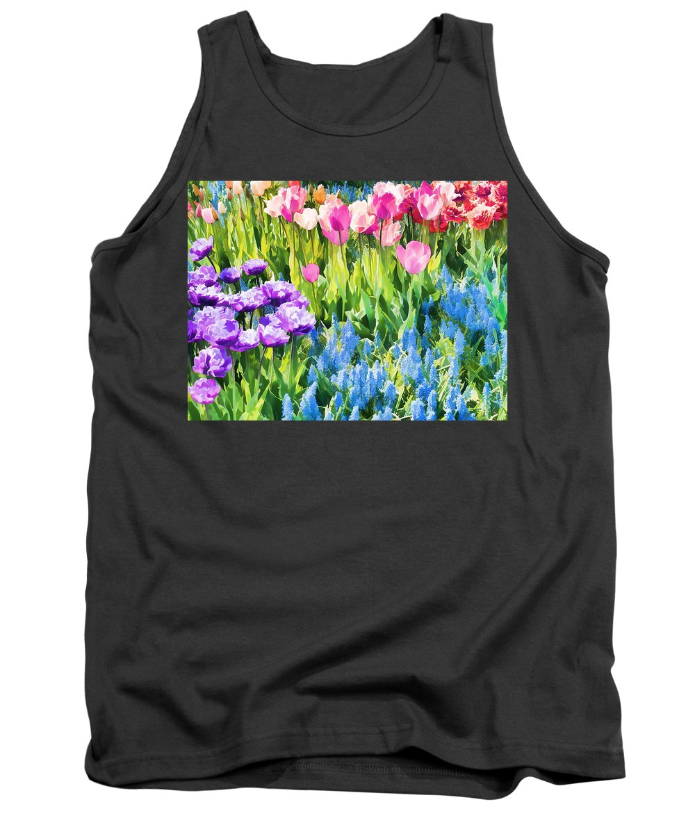 Flowers Tank Top featuring the photograph Flower Splash I by Tina Baxter