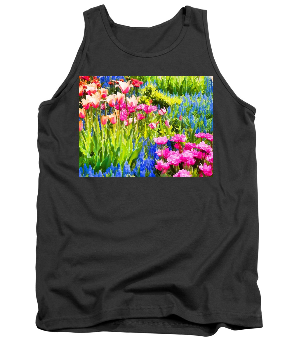 Flowers Tank Top featuring the photograph Flower Splash II by Tina Baxter