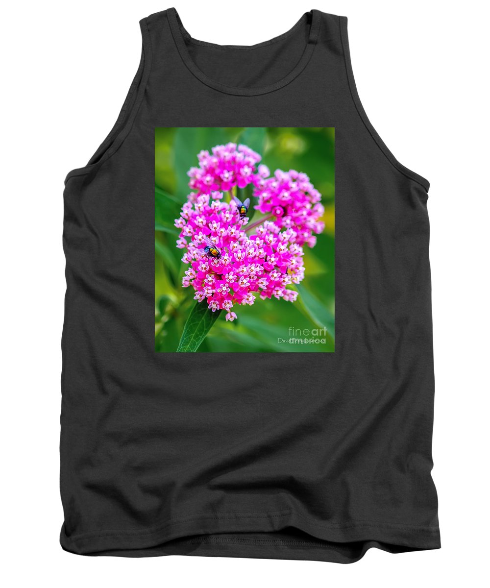 Flower Tank Top featuring the photograph Flowers In A Purple Heart by David Perry Lawrence