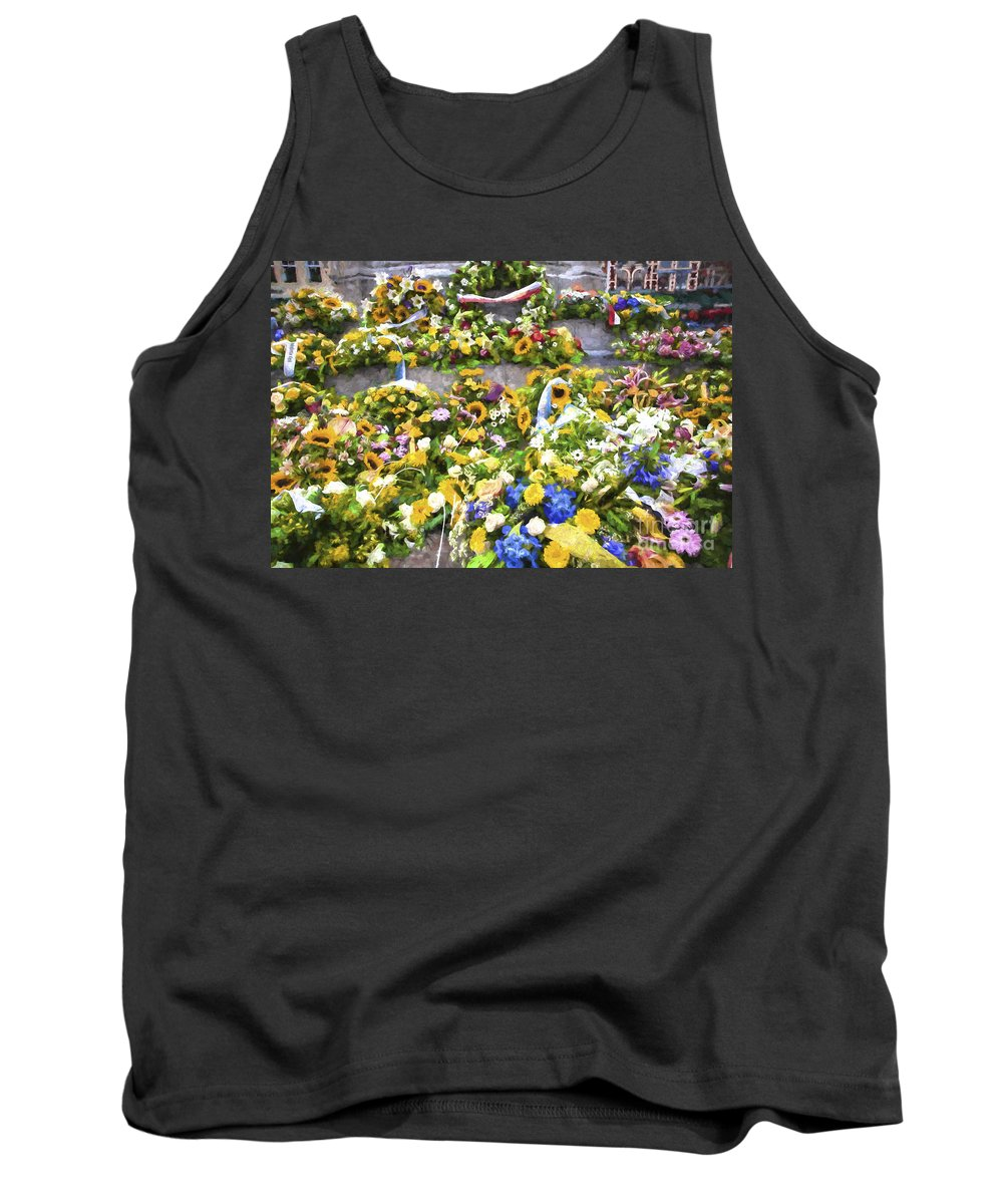 Brugge Tank Top featuring the photograph Flowers in Brugge by Sheila Smart Fine Art Photography