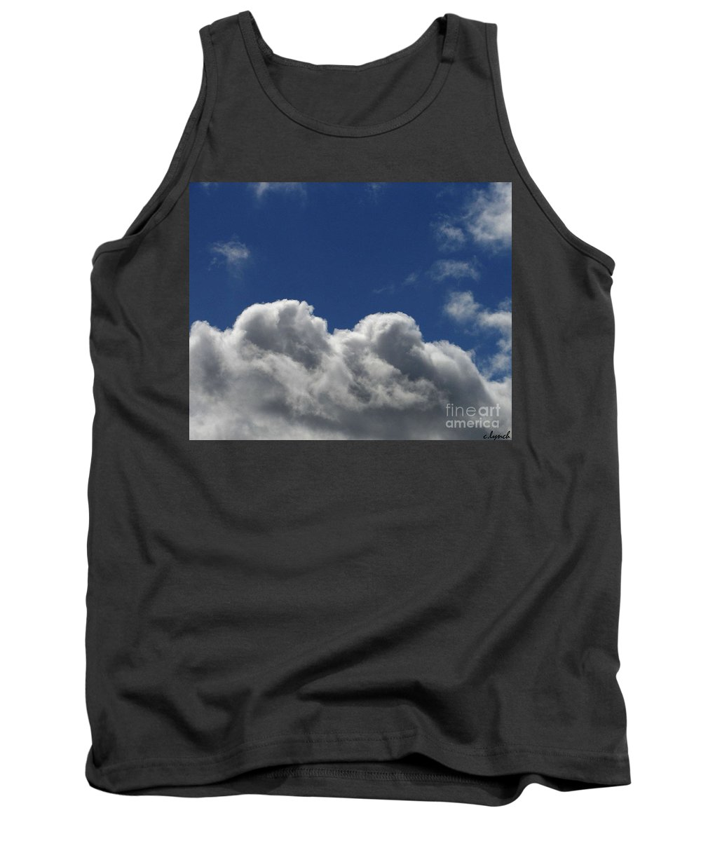 Clouds Tank Top featuring the photograph Fluffy Clouds 1 by Carol Lynch