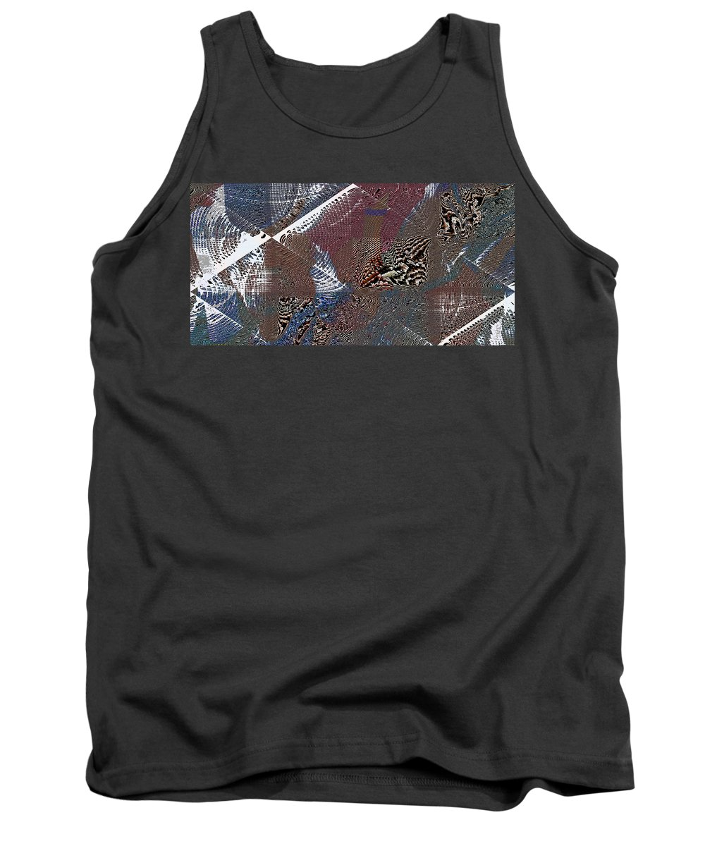 Abstract Tank Top featuring the digital art Folded 2 by Jack Bowman