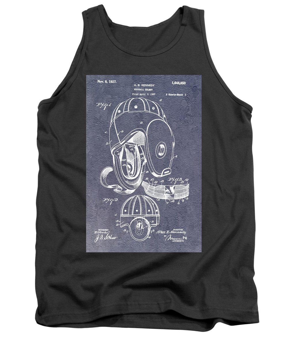 1927 Football Helmet Patent Tank Top featuring the digital art Football Helmet Patent by Dan Sproul