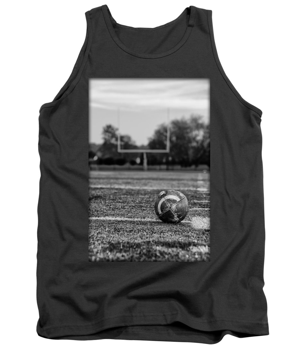 Football Tank Top featuring the photograph Football In Black And White by Bill Cannon
