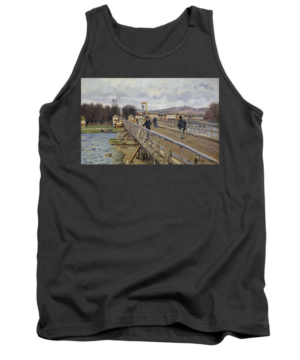 La Passerelle D'argenteuil Tank Top featuring the painting Footbridge At Argenteuil by Alfred Sisley