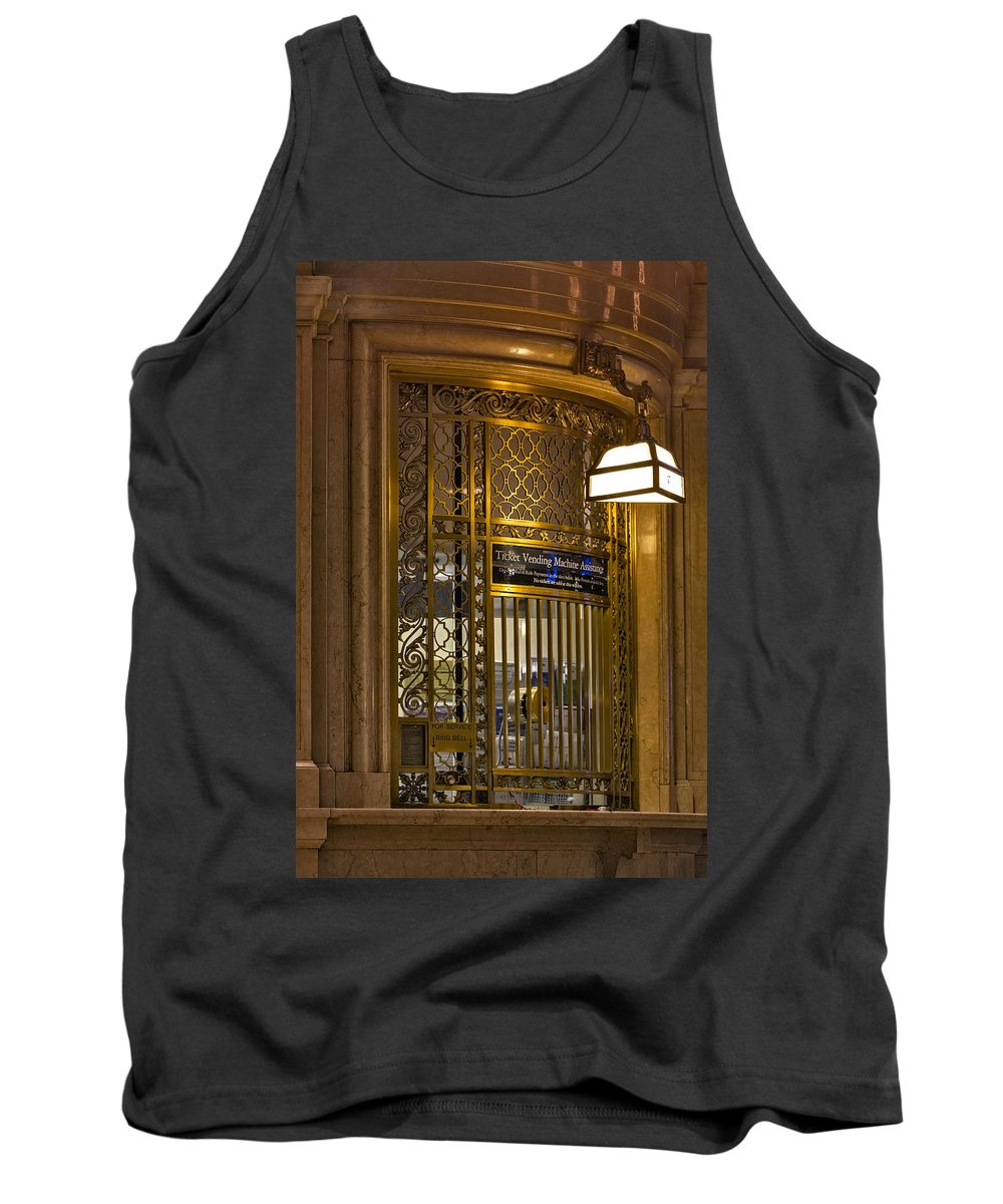 Grand Central Station Tank Top featuring the photograph For Service Ring Bell Gct by Susan Candelario
