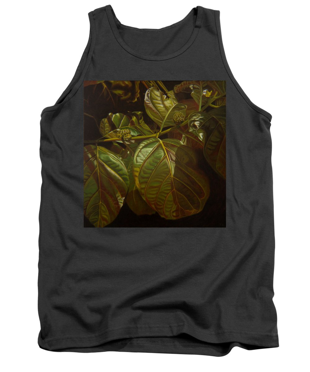 Tropical Plants Tank Top featuring the painting Forbidden Fruits by Thu Nguyen