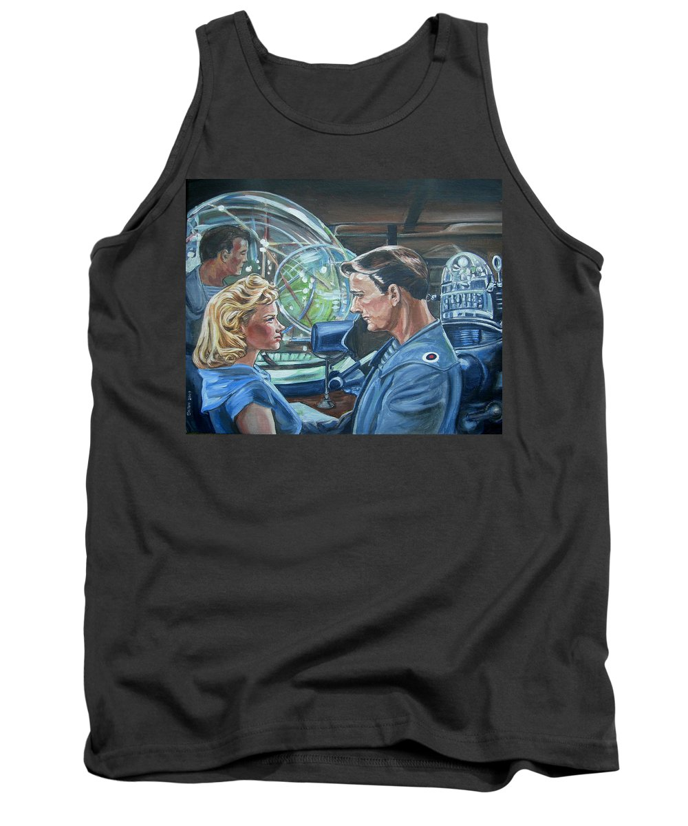 Forbidden Planet Tank Top featuring the painting Forbidden Planet by Bryan Bustard