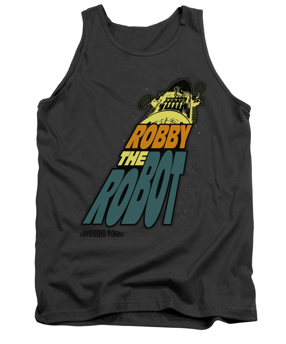 Forbidden Planet Tank Top featuring the digital art Forbidden Planet - Robby The Robot by Brand A