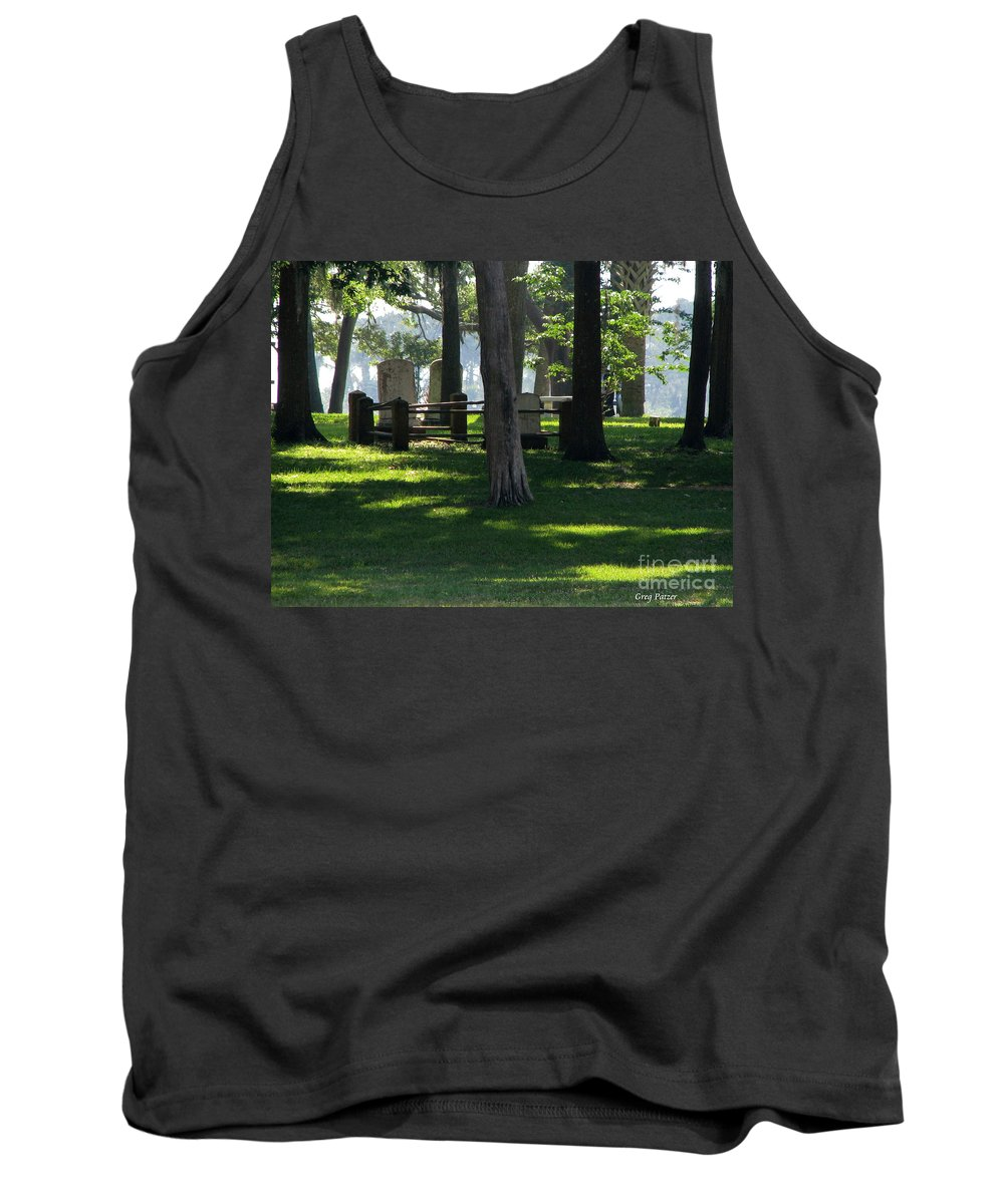 Patzer Tank Top featuring the photograph Fore Fathers by Greg Patzer