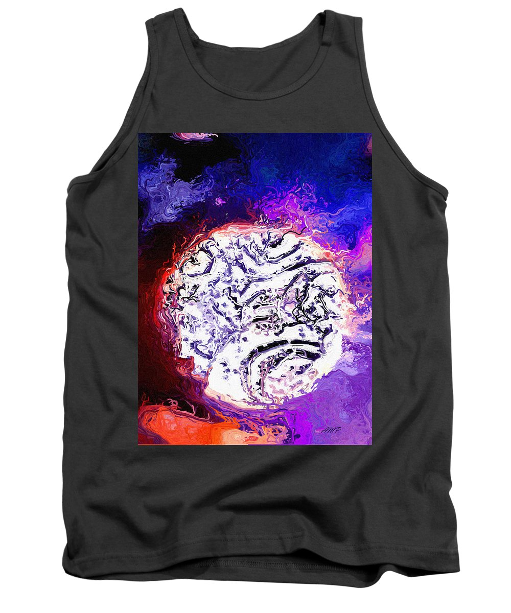 Moon Tank Top featuring the digital art Foreign Moon by April Patterson