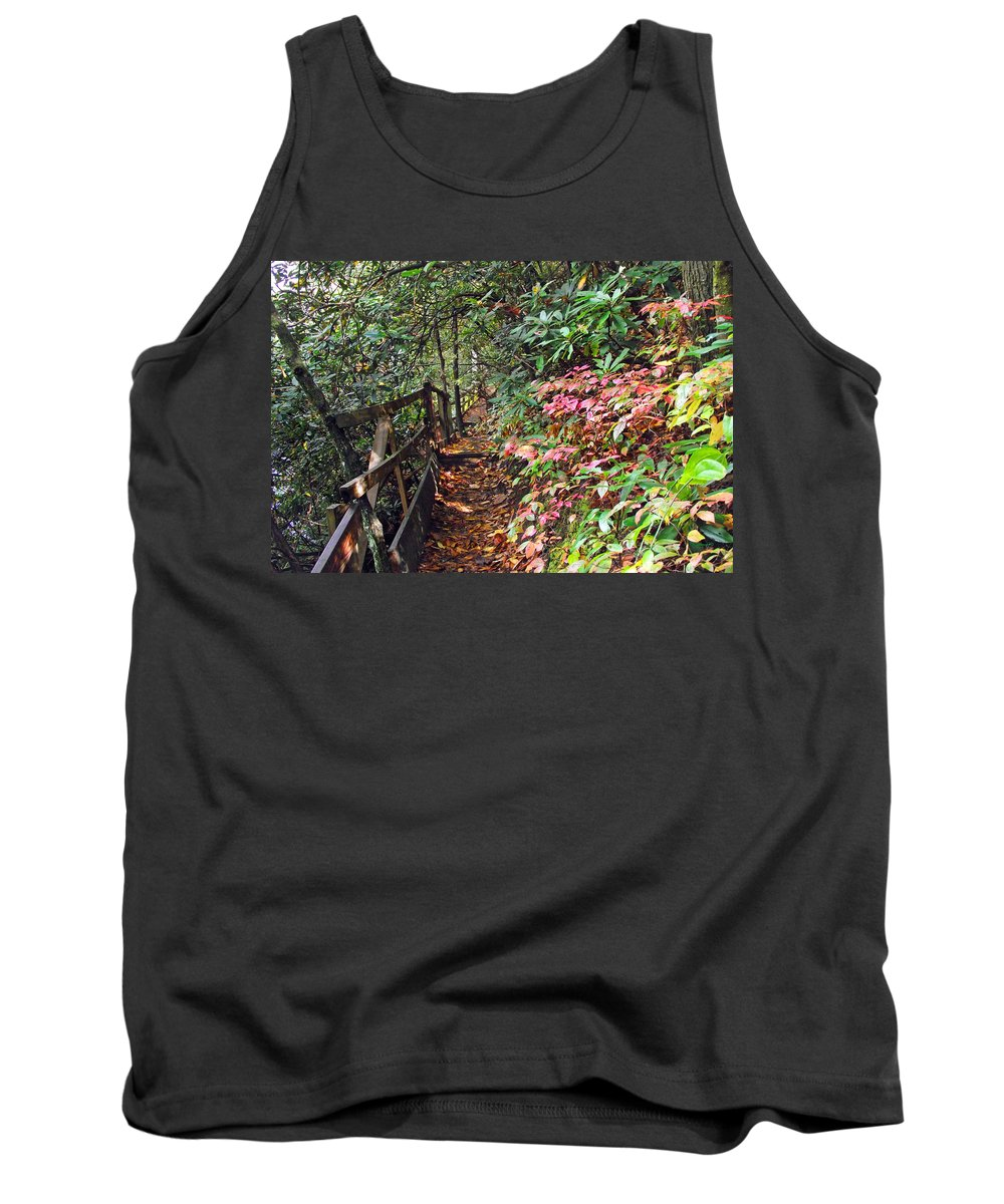 Plants Tank Top featuring the photograph Forest Path by Duane McCullough