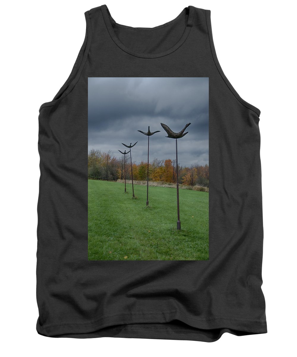 Griffis Park Tank Top featuring the photograph Formation Flying by Guy Whiteley