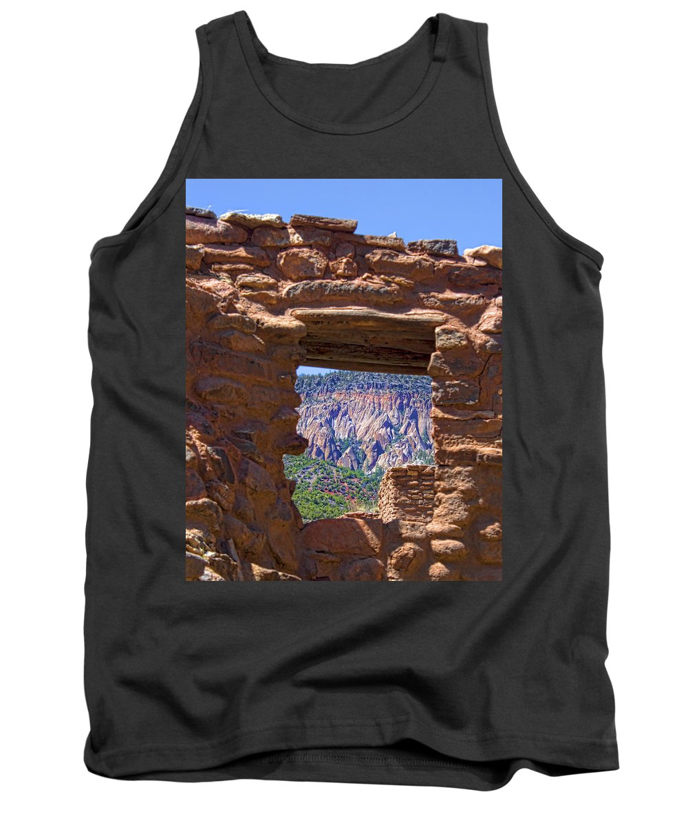 Southwest Tank Top featuring the photograph Fort Jemez Adobe Window by Brian King